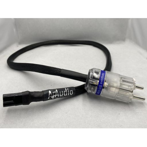 Schuko to Fig 8 Plug Silver Plated Cable